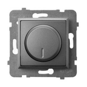 Ściemniacz przyciskowo-obrotowy do obciążenia żarowego i halogenowego szary mat ŁP-8U/m/70 ARIA OSPEL