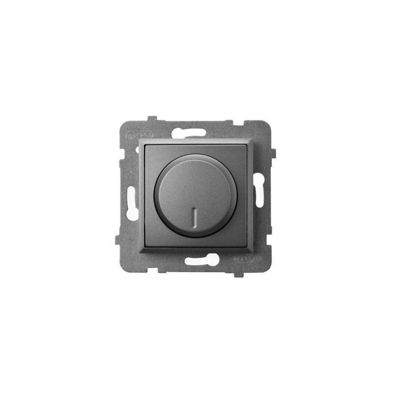 Regulatory-oswietlenia - ściemniacz przyciskowo-obrotowy do obciążenia żarowego i halogenowego szary mat łp-8u/m/70 aria ospel firmy OSPEL