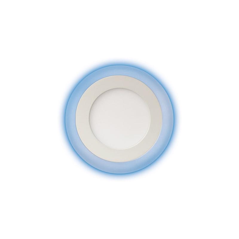 Plafony - oprawa sufitowa led z niebieskim podświetleniem 6w+3w alden led c 02899 ideus firmy IDEUS