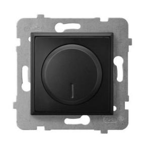 Regulatory-oswietlenia - ściemniacz przyciskowo-obrotowy czarny metalik łp-8u/m/33 aria ospel