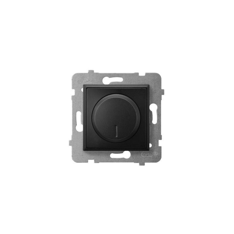 Regulatory-oswietlenia - ściemniacz przyciskowo-obrotowy czarny metalik łp-8u/m/33 aria ospel firmy OSPEL