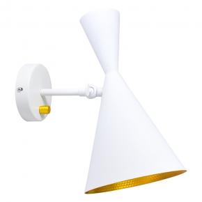 Biały kinkiet ze złotym odbłyśnikiem e27 Modern Polux