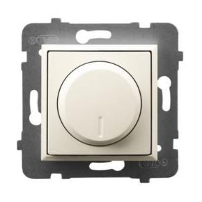 Regulator oświetlenia przyciskowo-obrotowy ECRU ŁP-8U/m/27 ARIA OSPEL