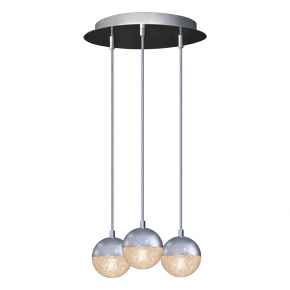 Lampy-sufitowe - lampa wisząca sufitowa chromowana amarillo 3 il mio polux