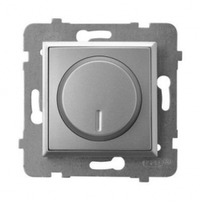 Ściemniacz przyciskowo-obrotowy do obciążenia żarowego i halogenowego srebrny ŁP-8U/m/18 ARIA OSPEL
