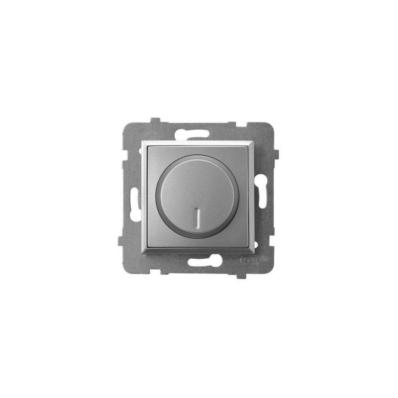 Regulatory-oswietlenia - ściemniacz przyciskowo-obrotowy do obciążenia żarowego i halogenowego srebrny łp-8u/m/18 aria ospel firmy OSPEL