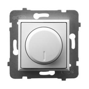 Ściemniacz przyciskowo-obrotowy do obciążenia żarowego i halogenowego biały ŁP-8U/m/00 ARIA OSPEL