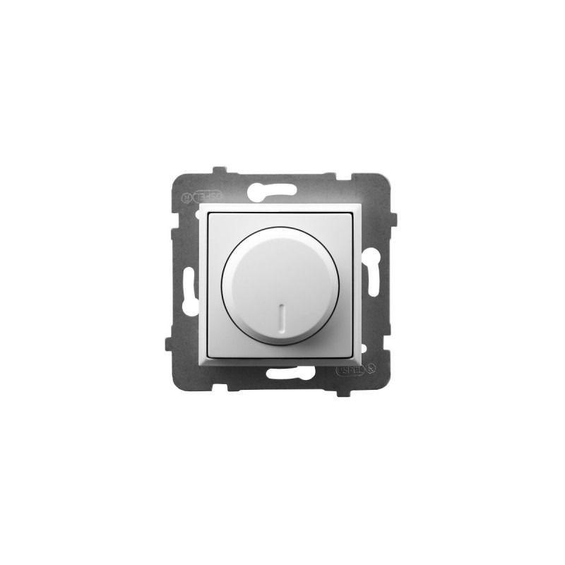 Regulatory-oswietlenia - ściemniacz przyciskowo-obrotowy do obciążenia żarowego i halogenowego biały łp-8u/m/00 aria ospel firmy OSPEL