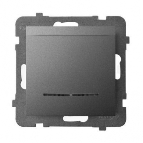 Włącznik hotelowy z podświetleniem pomarańczowym szary matowy ŁP-15US/m/70 ARIA OSPEL