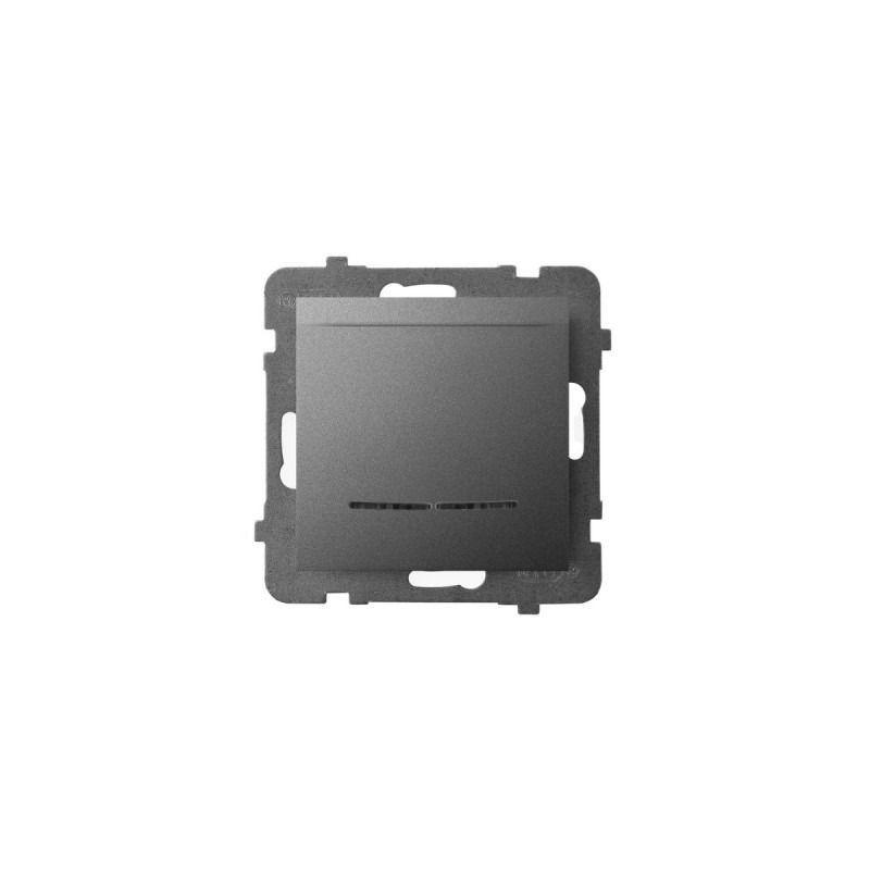 Wlaczniki-hotelowe - włącznik hotelowy z podświetleniem pomarańczowym szary matowy łp-15us/m/70 aria ospel firmy OSPEL
