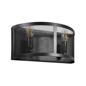 Kinkiety - czarna lampa ścienna 2x12w led e14 il mio bresso 2 polux