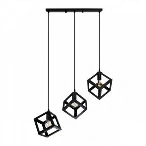 Lampy-sufitowe - nowoczesna lampa wisząca sufitowa czarna 3x20w e27 il mio sweden 3 polux