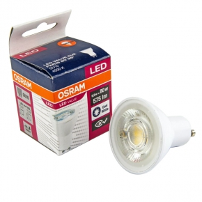 Gwint-trzonek-gu10 - żarówka led gu10 neutralna 6,9w-80w 4000k 575lm par16 led value eue osram