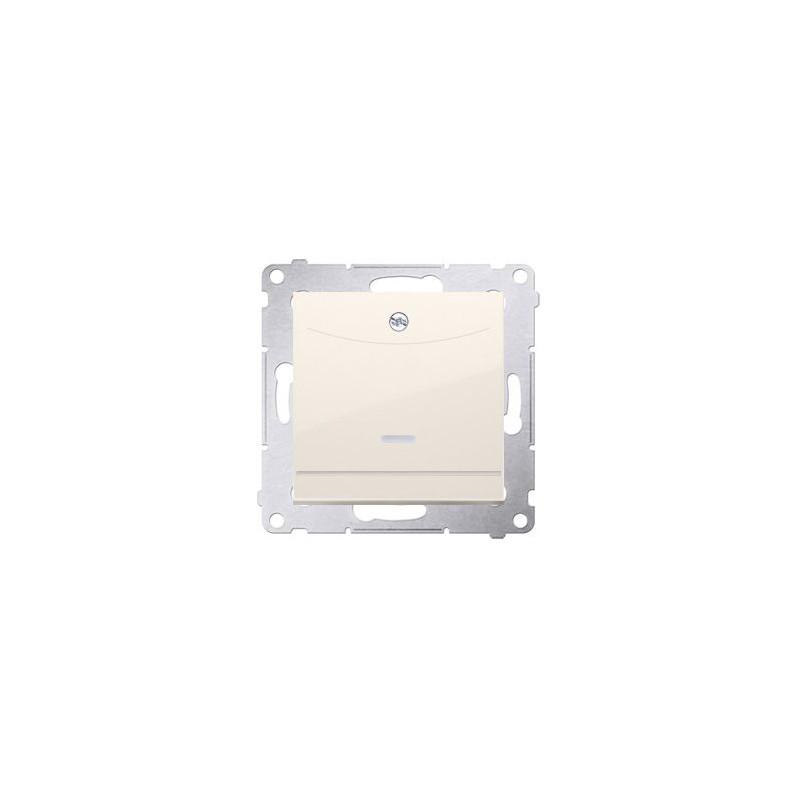 Wlaczniki-hotelowe - włącznik hotelowy podwójny z podświetleniem kremowy dwh2.01/41 simon 54 kontakt-simon firmy Kontakt-Simon