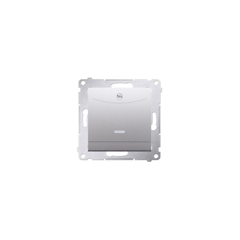 Wlaczniki-hotelowe - włącznik hotelowy podwójny z podświetleniem srebrny mat dwh2.01/43 simon 54 kontakt-simon firmy Kontakt-Simon