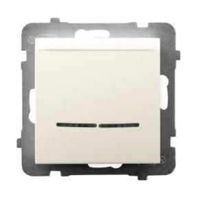 Włącznik hotelowy z podświetleniem pomarańczowym ECRU ŁP-15US/m/27 ARIA OSPEL