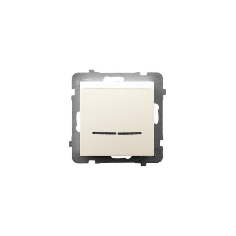 Wlaczniki-hotelowe - włącznik hotelowy z podświetleniem pomarańczowym ecru łp-15us/m/27 aria ospel firmy OSPEL
