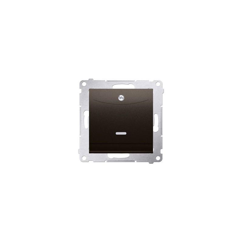 Wlaczniki-hotelowe - włącznik hotelowy podwójny z podświetleniem brązowy mat dwh2.01/46 simon 54 kontakt-simon firmy Kontakt-Simon