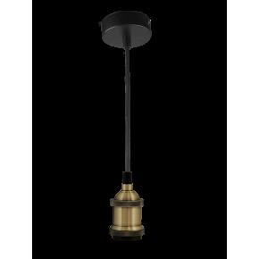 Lampy-sufitowe - wisząca lampa w loftowym stylu z czarnym kablem patynowa e27 20w il mio nola polux