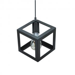 Lampy-sufitowe - lampa sufitowa w kształcie figury geometrycznej czarna e27 20w il mio sweden c polux