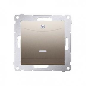 Wlaczniki-hotelowe - włącznik hotelowy podwójny z podświetleniem złoty mat dwh2.01/44 simon 54  kontakt-simon