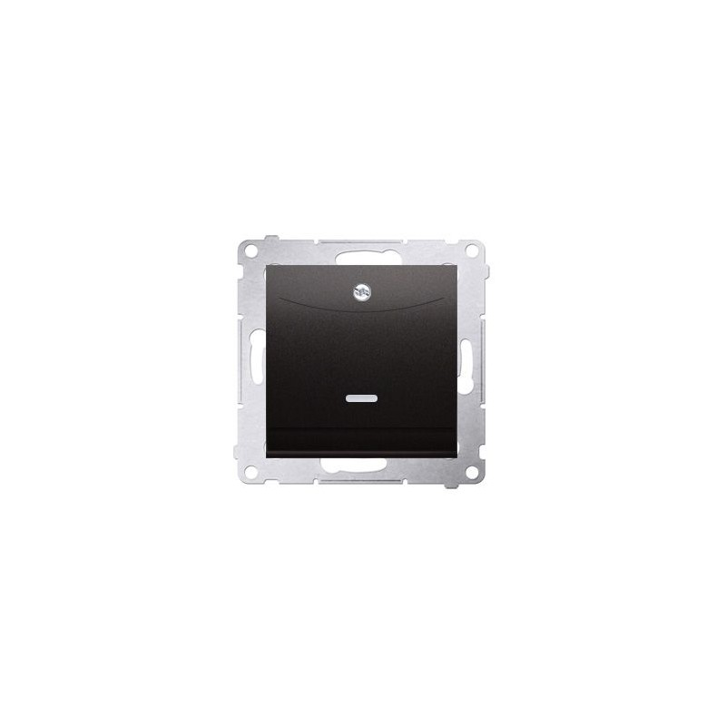 Wlaczniki-hotelowe - włącznik hotelowy podwójny z podświetleniem antracyt dwh2.01/48 simon 54 kontakt-simon firmy Kontakt-Simon