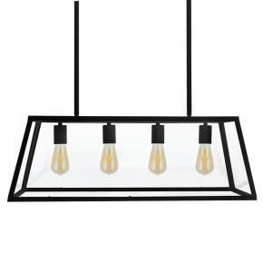 Czarna lampa wisząca 4x20W...