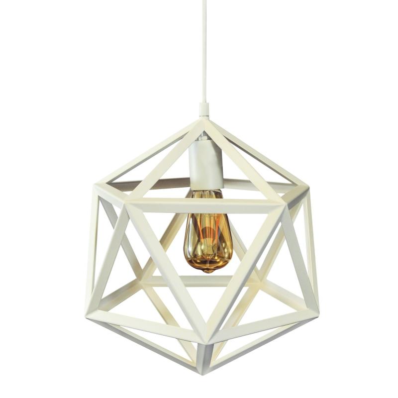 Lampy-sufitowe - lampa sufitowa geometryczna biała e27 20w il mio denmark b polux firmy POLUX