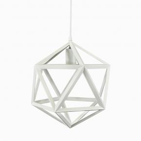 Lampy-sufitowe - lampa sufitowa geometryczna biała e27 20w il mio denmark b polux