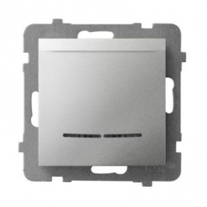 Włącznik hotelowy srebrny z podświetleniem pomarańczowym ŁP-15US/m/00 ARIA OSPEL