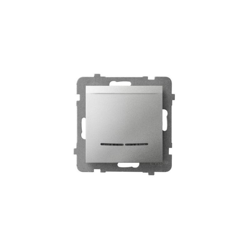 Wlaczniki-hotelowe - włącznik hotelowy srebrny z podświetleniem pomarańczowym łp-15us/m/00 aria ospel firmy OSPEL
