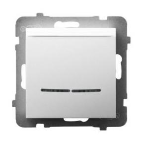 Włącznik hotelowy z podświetleniem pomarańczowym biały ŁP-15US/m/00 ARIA OSPEL