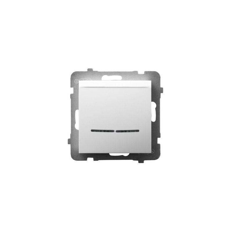 Wlaczniki-hotelowe - włącznik hotelowy z podświetleniem pomarańczowym biały łp-15us/m/00 aria ospel firmy OSPEL