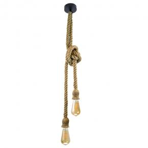 Lampy-sufitowe - wisząca lampa sufitowa e27 2x12w czarny/beżowy il mio rope polux