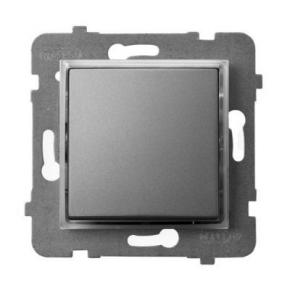 Włącznik kontrolny z podświetleniem pomarańczowym szary mat ŁP-12US/m/70 ARIA OSPEL