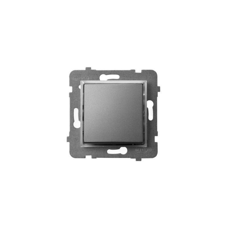 Wylaczniki-jednobiegunowe - włącznik kontrolny z podświetleniem pomarańczowym szary mat łp-12us/m/70 aria ospel firmy OSPEL