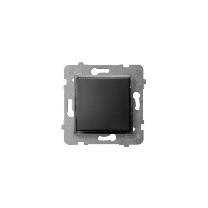 Wylaczniki-jednobiegunowe - włącznik kontrolny z podświetleniem pomarańczowym czarny metalik łp-12us/m/33 aria ospel firmy OSPEL