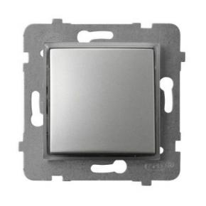 Wylaczniki-jednobiegunowe - włącznik kontrolny z podświetleniem pomarańczowym srebrny łp-12us/m/18 aria ospel