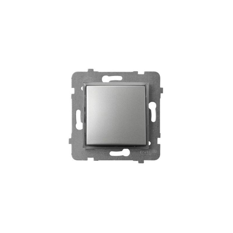 Wylaczniki-jednobiegunowe - włącznik kontrolny z podświetleniem pomarańczowym srebrny łp-12us/m/18 aria ospel firmy OSPEL