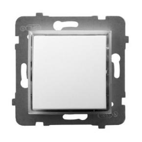 Włącznik pojedynczy kontrolny z podświetleniem pomarańczowym biały ŁP-12US/m/00 ARIA OSPEL