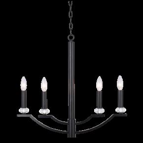 Lampy-sufitowe - żyrandol z poczwórnym źródłem światła czarny 4x12w e14 il mio hims 4 polux