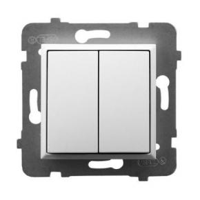Włącznik podwójny zwierny biały ŁP-17U/m/00 ARIA OSPEL
