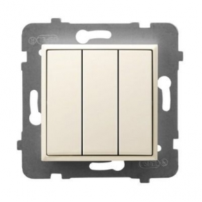 Potrójny włącznik światła ECRU ŁP-13U/m/27 ARIA OSPEL