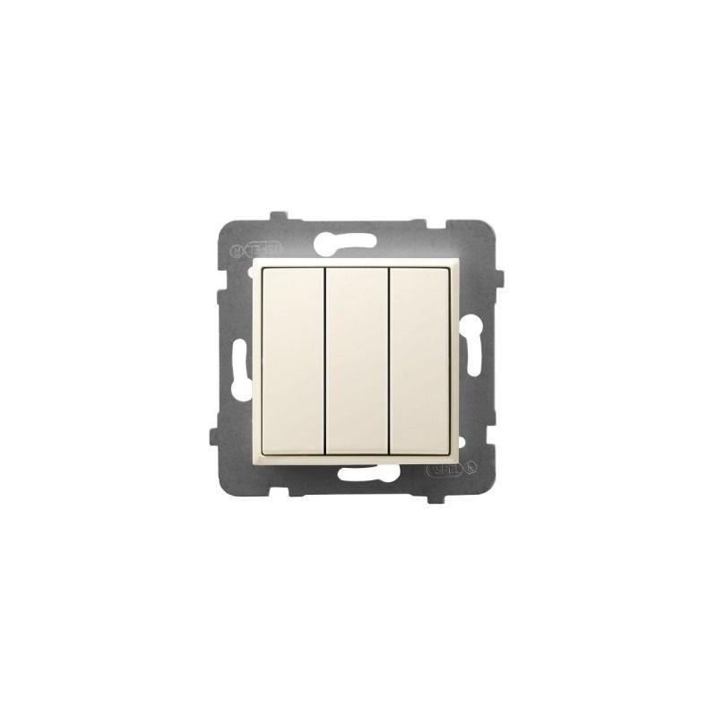 Wylaczniki-potrojne - potrójny włącznik światła ecru łp-13u/m/27 aria ospel firmy OSPEL