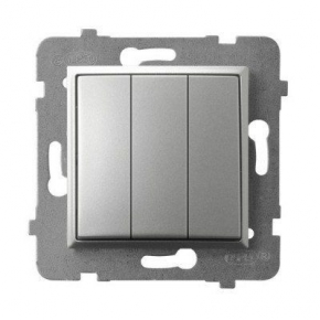 Włącznik potrójny srebrny ŁP-13U/m/18 ARIA OSPEL