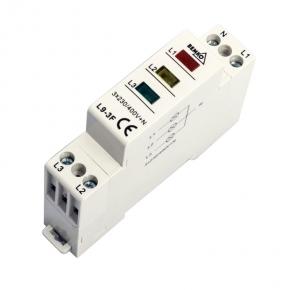 Lampki-kontrolne - lampka sygnalizacyjna - kontrolka trójfazowa 3 kolory l9-3f bemko