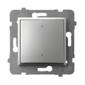 Włącznik dwubiegunowy srebrny ŁP-11U/m/18 ARIA OSPEL