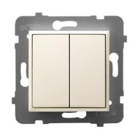Wyłącznik schodowy podwójny ECRU ŁP-10U/m/27 ARIA OSPEL