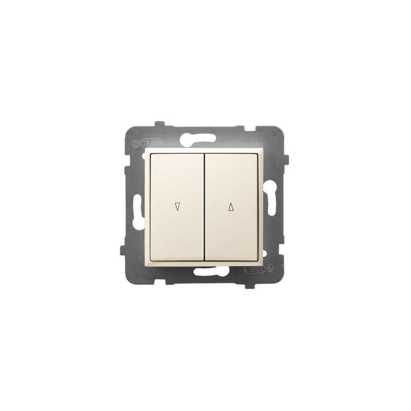 Wylaczniki-zaluzjowe - włącznik żaluzjowy z blokadą mechaniczną ecru łp-7ub/m/27 aria ospel firmy OSPEL