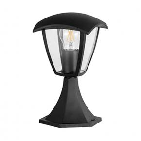 Lampy-ogrodowe-stojace - niska lampa stojąca do ogrodu czarna 29,5cm e27 12w led igma 311894 polux